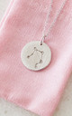 Silver Libra Star Sign Constellation Pendant by Booboo Boutique