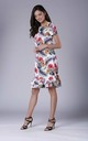 Floral Frill Dress With Short Sleeves by Bergamo
