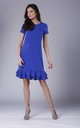 Royal Blue Frill Dress With Short Sleeves by Bergamo