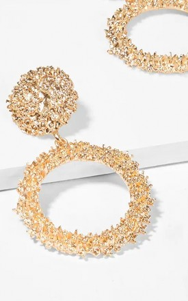 Alia Gold Circle Statement Earrings by The Fashion Bible