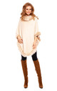 Faux Fur Cape Poncho in Cream by Looking Glam