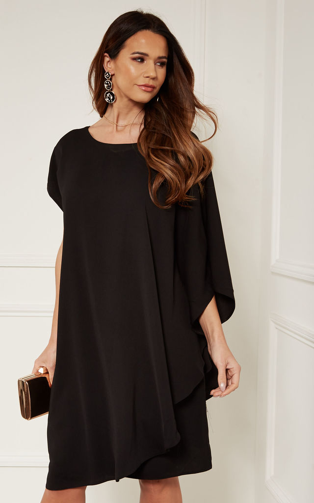 Black Double Layer Dress by Bella and Blue