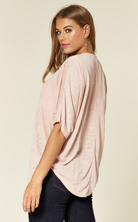 TAL – Rose Gold Zip Front Pink Batwing Top by Blue Vanilla