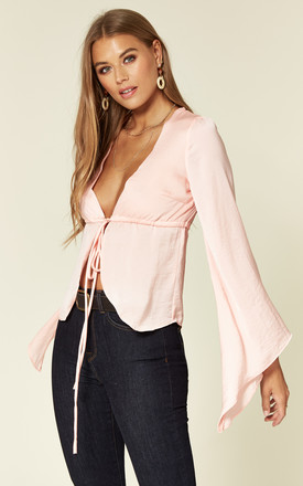 Clea bell sleeve blouse in pink by Hella Sundays