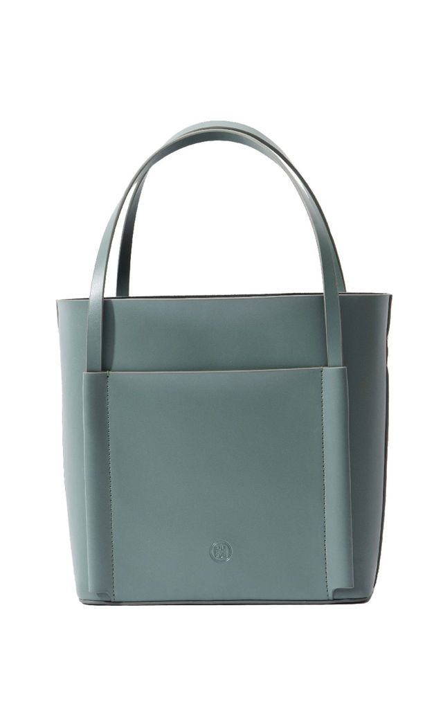 Leather Shoulder Bag Small Tote Bag in Green by MOOD BAG