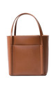 Leather Shoulder Bag Small Tote Bag in Brown by MOOD BAG