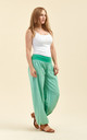 Slouchy pants in green by From London with Love