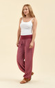 Slouchy pants in red by From London with Love