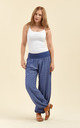 Slouchy pants in dark blue by From London with Love