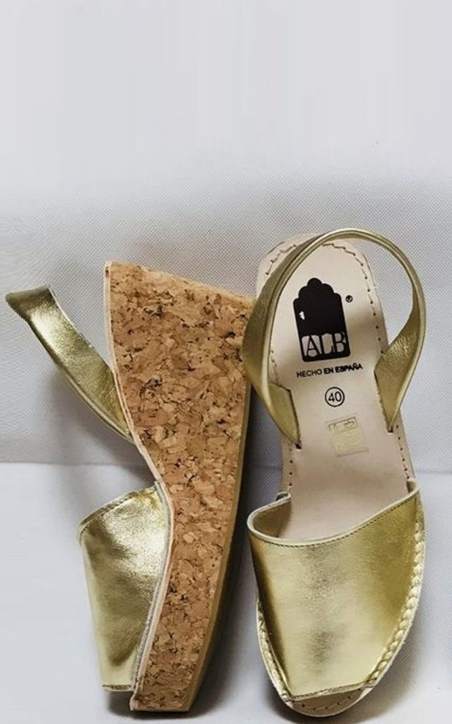 Leather Wedge Sandals in Gold by Avenue L Boutique