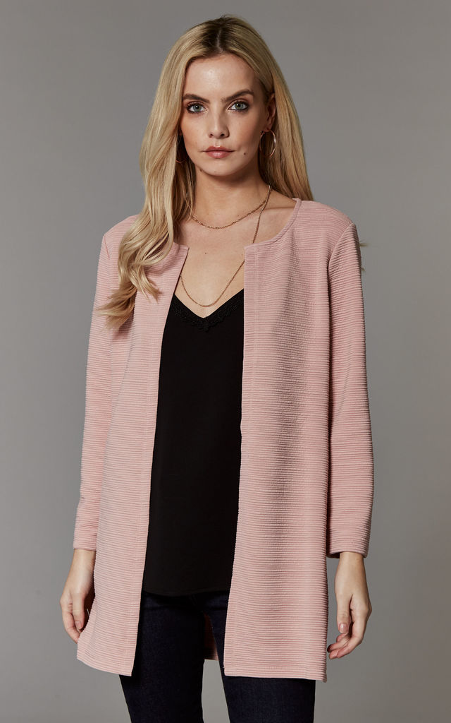 Rose Textured Long Line Blazer by ONLY