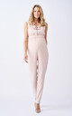 Ava Maternity and Breastfeeding Jumpsuit with Ruffle Details in Blush Pink by Adélie Maternity