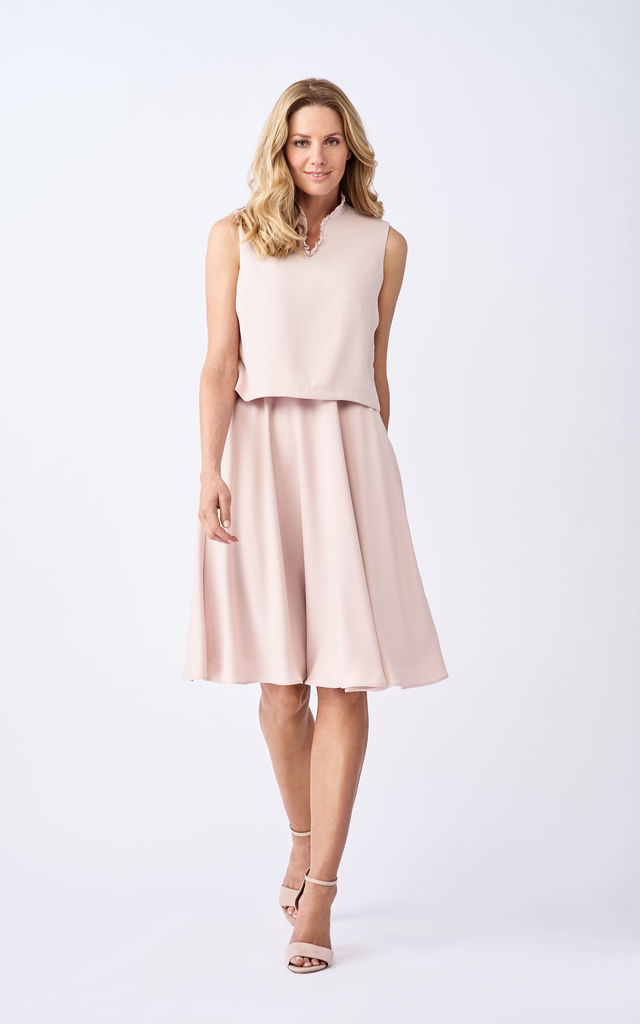 cc28b124d31 Mia Maternity and Breastfeeding Crepe Dress in Pink by Adélie Maternity