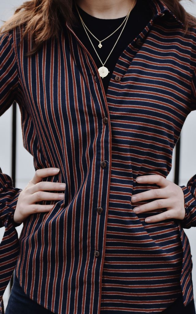 Charlotte Striped Shirt by Ararose Clothing