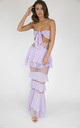 MAYA Lilac two-piece bandeau multi-way top and skirt co-ord set by House of Gigi