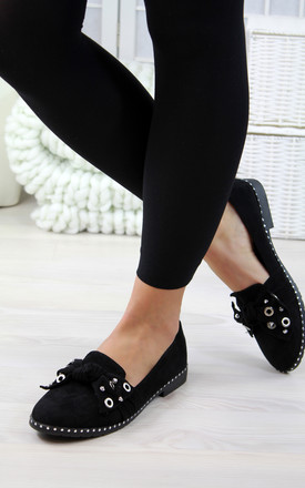 Black Bow Loafers by Larena Fashion