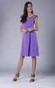 Violet A-line Midi Sleeveless U-Neck Dress by Bergamo