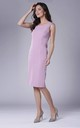 Pink Fitted Sleeveless Round Neck Dress by Bergamo