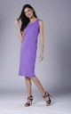 Violet Fitted Sleeveless Round Neck Dress by Bergamo