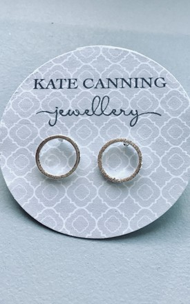 Circle Earrings Studs - Silver tone by Kate Canning Jewellery