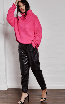 Hot Pink knit Roll Neck Jumper by India Gray