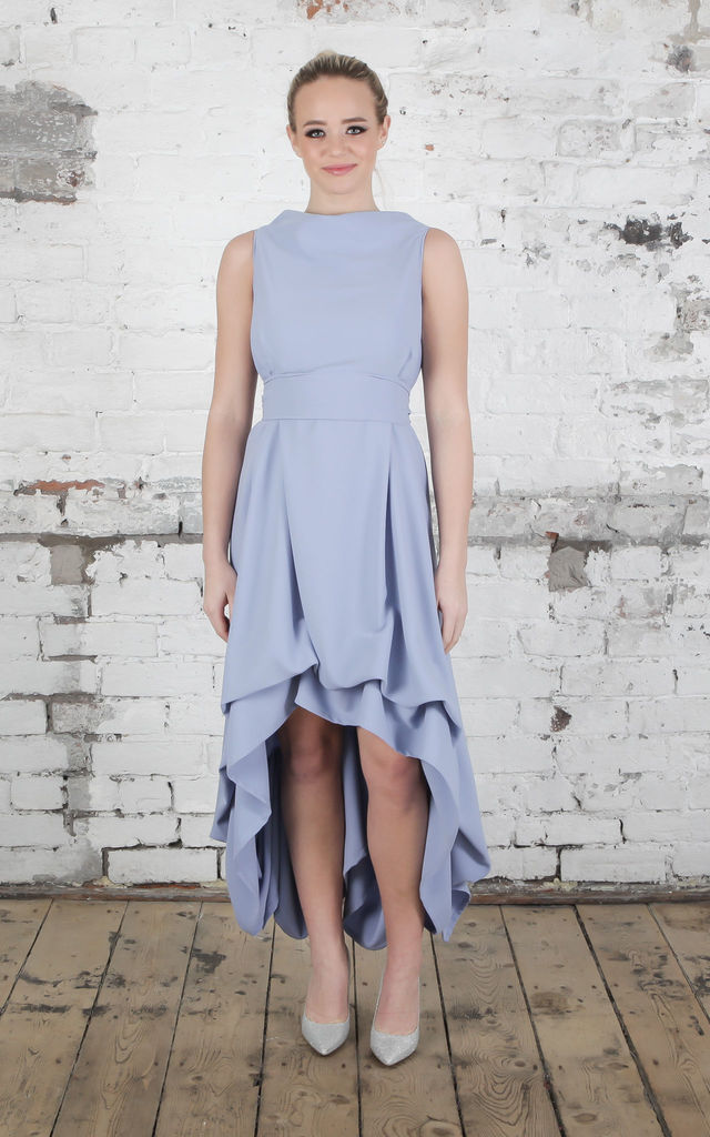 Dusty Blue Wendy Dress by Blonde And Wise