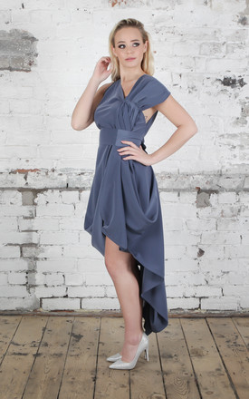 Gunmetal Mollie Dress by Blonde And Wise