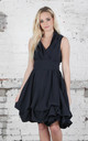 Navy Trench Dress by Blonde And Wise
