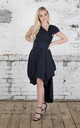 Navy Mollie Dress by Blonde And Wise