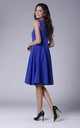 Cobalt Sleeveless Flared Elegant Midi Dress by Bergamo
