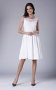 White Sleeveless Flared Elegant Midi Dress by Bergamo