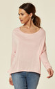 LUCIA - Plain Hilow BabyPink Long Sleeve by Blue Vanilla