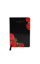 Black Rose Print A5 Notebook by Johnny Loves Rosie