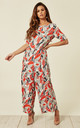Bianca Bird Jumpsuit in Red by Traffic People