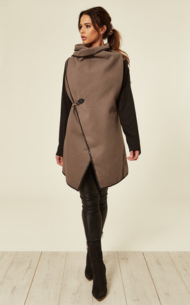 NEDA – Clip Detail Double Breast Brown Coat by Blue Vanilla