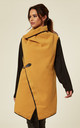 NEDA – Clip Detail Double Breast Mustard Coat by Blue Vanilla