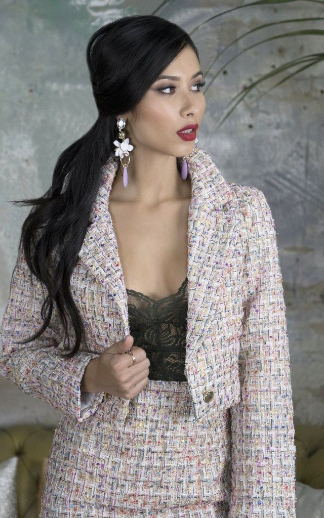 Crawford Pink Cropped Jacket by Lavand Stories