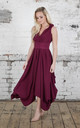 Plum Darcy Dress by Blonde And Wise