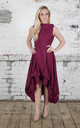 Plum Wendy Dress by Blonde And Wise
