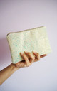 Glitter Mini Clutch Bag in Pastel Yellow by Suki Sabur Designs