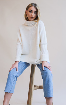 Callie Knit Jumper   Cream by Pretty Lavish Product photo