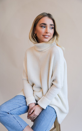 Callie Knit Jumper - Cream by Pretty Lavish