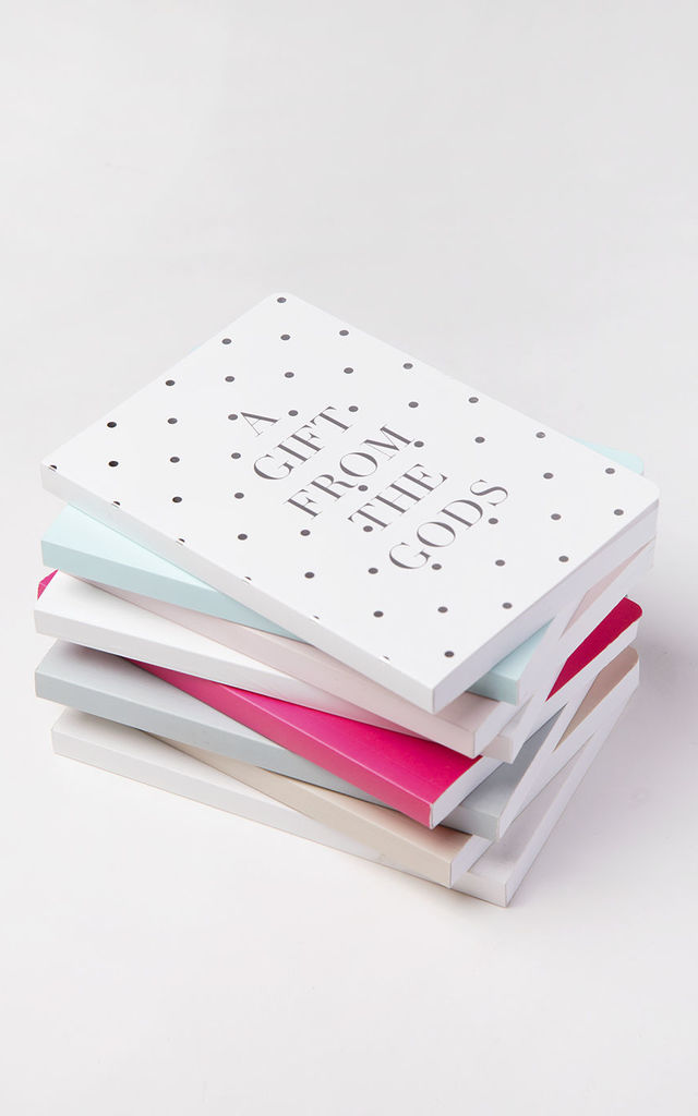Polka Dot White A6 Notebook by A Gift From The Gods