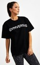Big Logo Superset Oversized Cotton Tee - Black by GYMVERSUS London