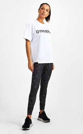 Big Logo Superset Oversized Cotton Tee - White by GYMVERSUS London