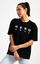 Hero Superset Oversized Cotton Tee - Black by GYMVERSUS London