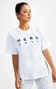 Hero Superset Oversized Cotton Tee - White by GYMVERSUS London