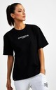 Small Logo Superset Oversized Cotton Tee - Black by GYMVERSUS London