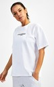 Small Logo Superset Oversized Cotton Tee - White by GYMVERSUS London