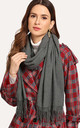 Dark Grey Soft Wool Cashmere Scarf/Shawl by Urban Mist